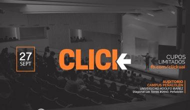 Nueva versión de charlas CLICK: Conoce a quienes expondrán en campus Peñalolén de la UAI