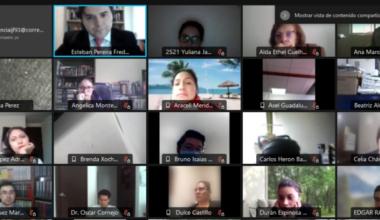 Profesores de Derecho UAI dictan curso de formación para juristas mexicanos